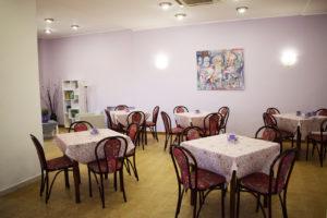 la sala da pranzo del residence belvedere